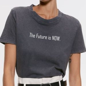 Zara Charcoal Tshirt, The Future is Now T-Shirt